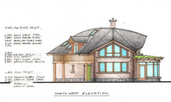 Astonishing Wood House Design Drawing Contemporary   Simple Design .