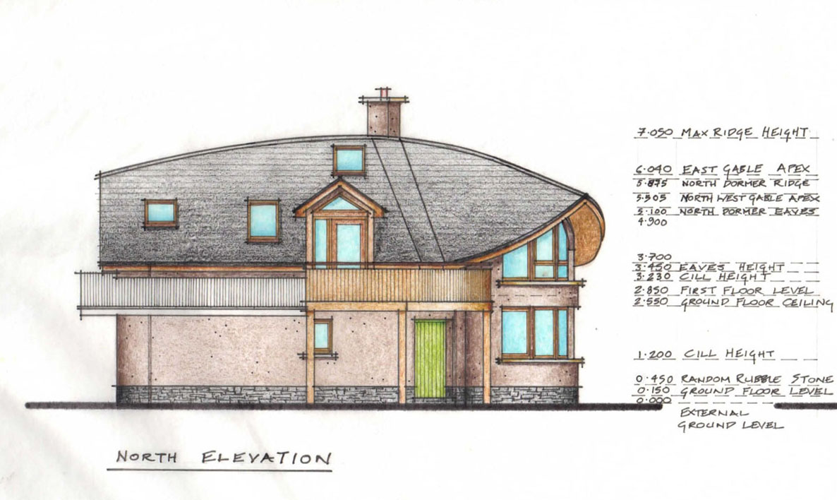 North N Home Plan And Elevation : Links mud and wood